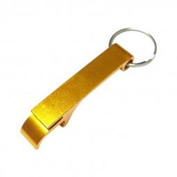 Mini Novelty Keyring Keychain Portable Coloured Beer Bottle Opener - Gold