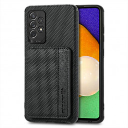 TPU Back Phone Case with Card Slot for Samsung Galaxy A52 5G - Black