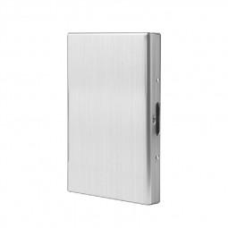 RFID Blocking Aluminum Metal Slim Wallet Anti-Scan Credit Card Holder Thin Case - Mirror Silver