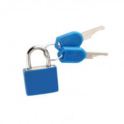 Mini Padlock Students Bag Travel Luggage Suitcase Drawer Locks with 2 pcs Keys - Blue