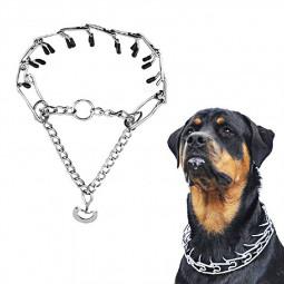 Metal Steel Chain Dog Training Prong Pinch Adjustable Choke Spike Collar - 4mmx60cm