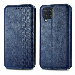 Magnetic PU Leather Wallet Case Cover for Samsung Galaxy M32 - Blue
