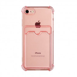 TPU Rubber Soft Skin Silicone Protective Case for iPhone 7/8/SE 2020 - Pink