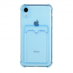 TPU Rubber Soft Skin Silicone Protective Case for iPhone XR - Blue