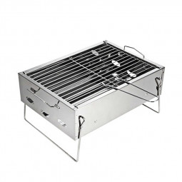 Folding BBQ Barbecue Grill Portable Charcoal Stove for Camping Garden Outdoor - Small Size