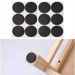 Non Slip Self Adhesive Floor Protectors Chair Leg Pads Table Rubber Feet Pads - Round 12 pcs