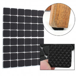 Non Slip Self Adhesive Floor Protectors Chair Leg Pads Table Rubber Feet Pads - Square 48 pcs