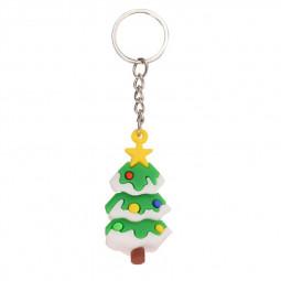 Christmas Keychain Tree Santa Claus Pendant Ornaments for Car Bag Decoration - Christmas Tree