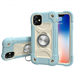 Hard PC Case Cover Shock Absorption Bumper Soft Case for iPhone Mini - Blue