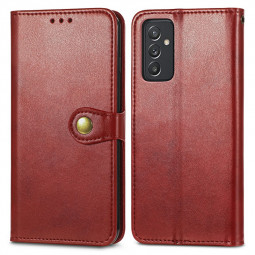 Magnetic PU Leather Wallet Card Case Flip Stand Cover for Samsung Galaxy A82 5G - Red