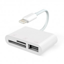8 pin to RJ45 USB Digital Camera Adapter SD/TF Card Reader for iPhone/iPad/iPod Touch