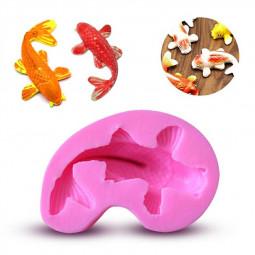 Small Size Koi Fish Fondant Mold Sugar Craft Silicone Mold