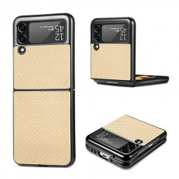 Anti Scratch Protective Slim Phone Case Drop proof Fashion for Samsung Galaxy Z Flip 3 5G - Khaki Apricot