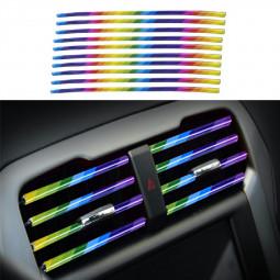 10 pcs Car Air Conditioner Outlet Vent Grille Decor U Shape Molding Trim Strip - Coloured