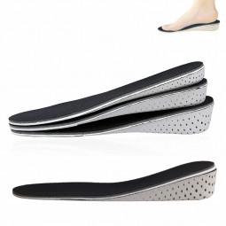 Memory Foam Elevator Insoles Height Increase Pads Soles Foot Mat - 4cm