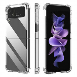 TPU Soft Skin Silicone Case Bumper Shockproof Phone Cover for Samsung Galaxy Z Flip 3 5G - Clear
