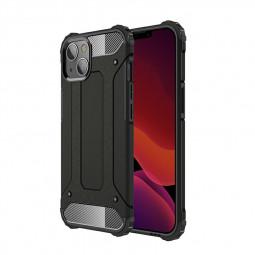 Rugged Armor TPU + PC Combination Back Case for iPhone 13 Mini - Black