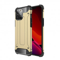 Rugged Armor TPU + PC Combination Back Case for iPhone 13 Pro Max - Gold