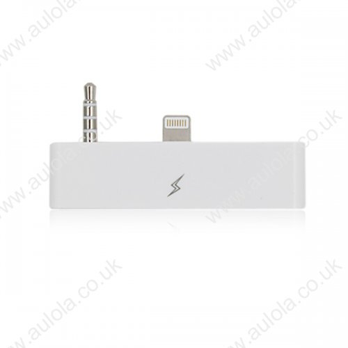 30 Pin To 8 Pin Audio Adapter Converter for iPhone 6 - White