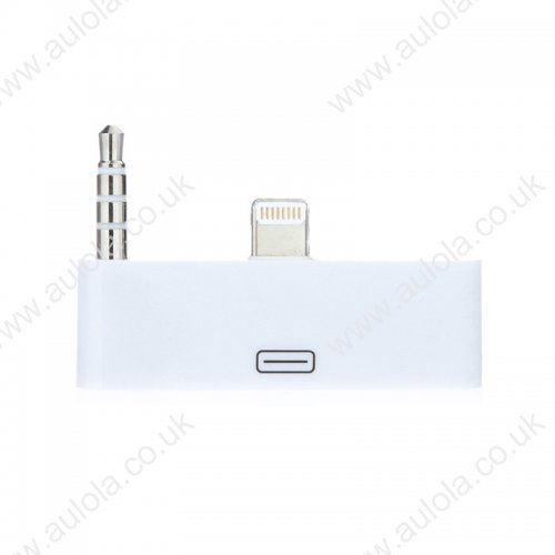 30 pin to 8 pin AUDIO Adapter Converter for Dock Station iPhone 5 iPod Touch