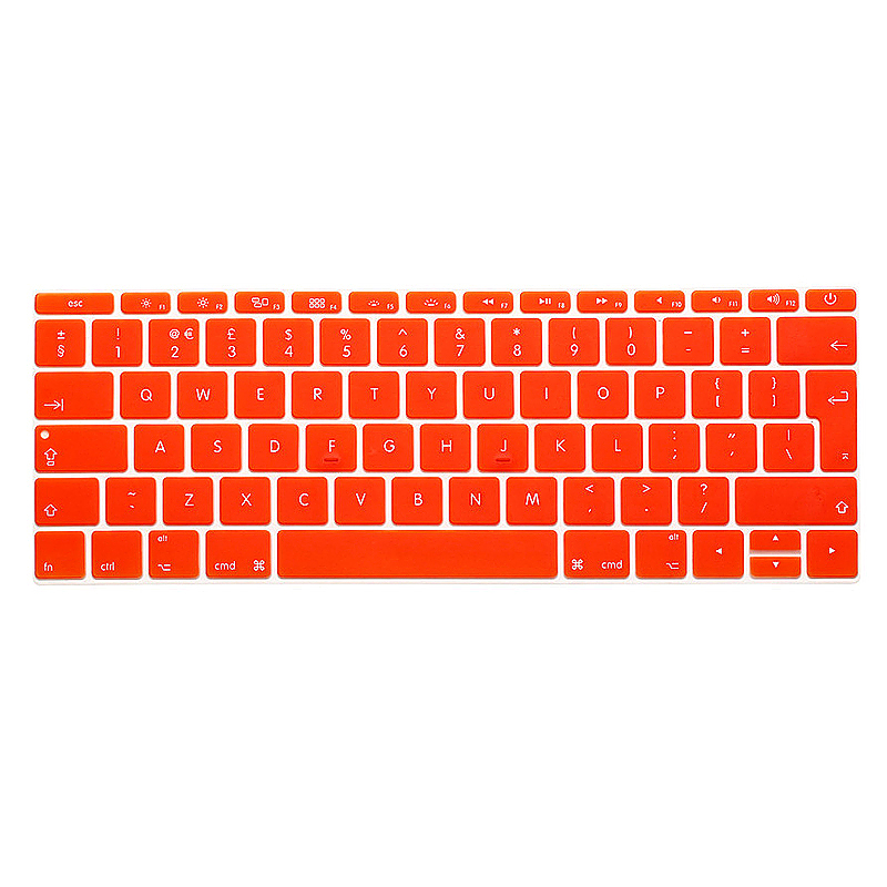 EU Silicone Keyboard Skin Cover For Apple Macbook Pro Air Mac Retina 13 inch - Orange