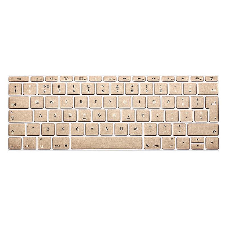 EU Silicone Keyboard Skin Cover For Apple Macbook Pro Air Mac Retina 13 inch - Gold