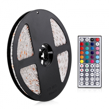5M 5050 RGB Colorful LED Light Flex String Strip 24W With 44 Key Remote Control