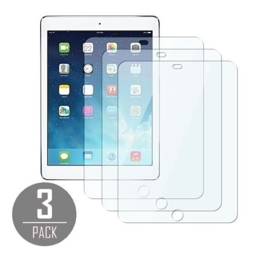 3 x Ultra Clear LCD Screen Protector Cover Guard Shield for iPad Air 1 & 2