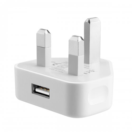 5V 1000MA USB Charger Adapter UK Plug for iPhone 5S 6 Plus Samsung - White