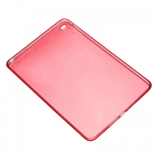 Clear Soft TPU Protective Back Case Cover Skin for iPad Mini 4 - Red