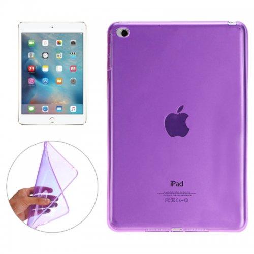 Clear Soft TPU Protective Back Case Cover Skin for iPad Mini 4 - Purple