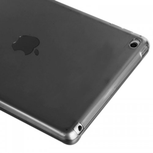 Clear Soft TPU Protective Back Case Cover Skin for iPad Mini 4 - Black