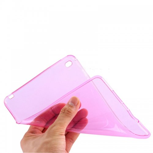 Clear Soft TPU Protective Back Case Cover Skin for iPad Mini 4 - Pink