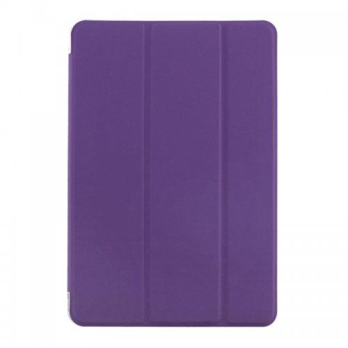 Slim PU Leather Magnetic Tri-Fold Smart Stand Cover Case for iPad Mini 4 - Purple