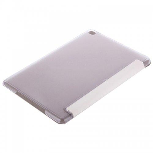 Slim PU Leather Magnetic Tri-Fold Smart Stand Cover Case for iPad Mini 4 - White
