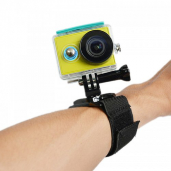 360 Degree Rotating Arm Hand Wrist Strap Band for GoPro Hero4/3+/3/2/1 - Black