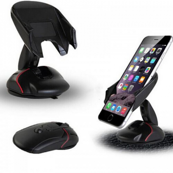 360 Degree Mouse Suction Mobile Phone Mount Holder Stand Car Dashboard