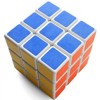 Rubix Cube Puzzle Mind Game product Classic Cube - White Ground