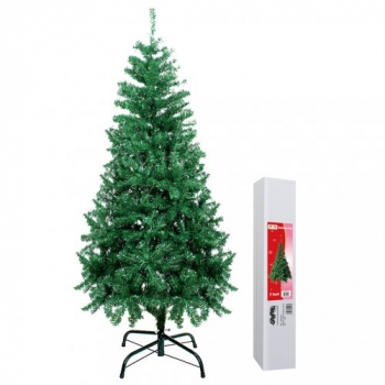 2.1m Artificial Christmas Tree With Solid Metal Legs - Green