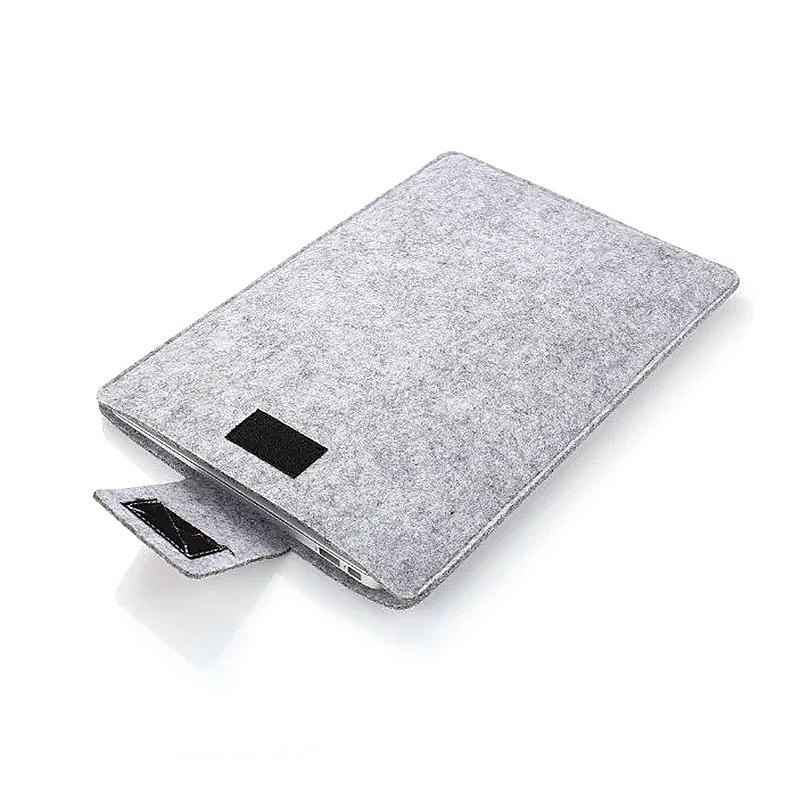 11 Inch Fashion Vertical Open Felt Sleeve Laptop Case Cover Bag for MacBook - Grey