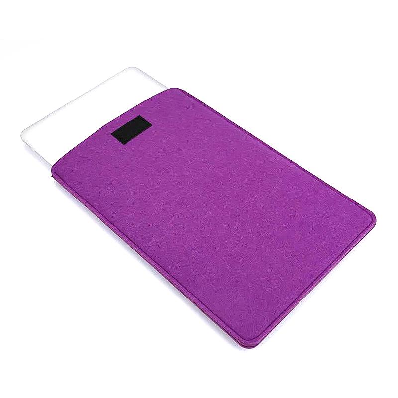 11 Inch Fashion Vertical Open Felt Sleeve Laptop Case Cover Bag for MacBook - Purple