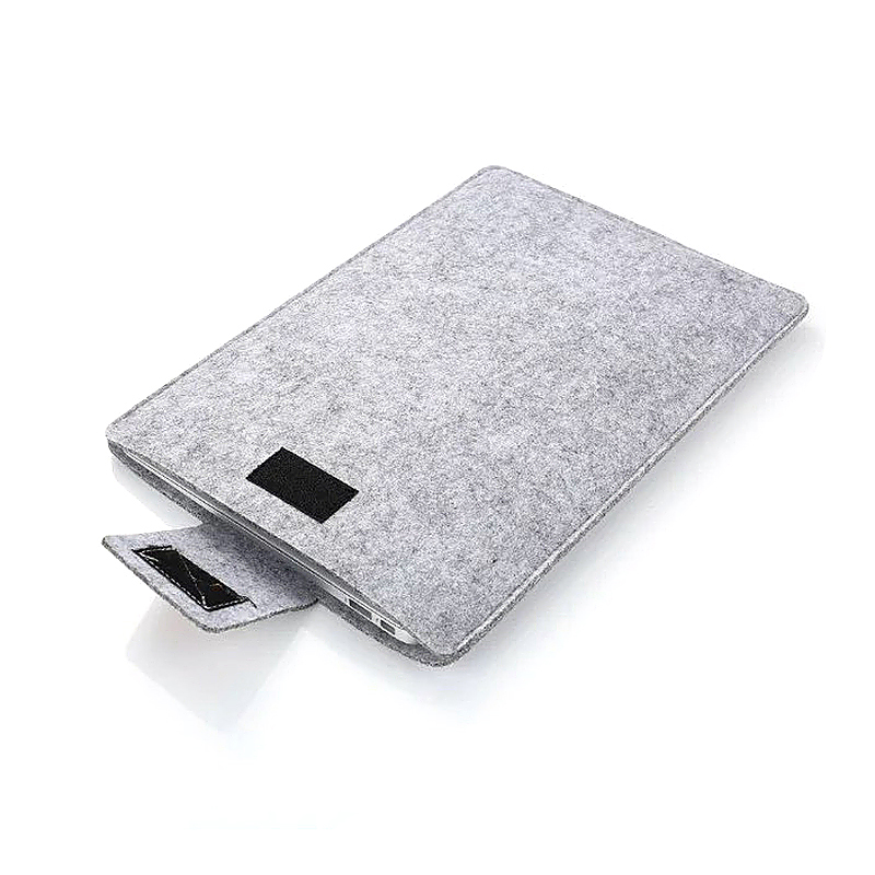 13 Inch Fashion Vertical Open Felt Sleeve Laptop Case Cover Bag for MacBook - Grey
