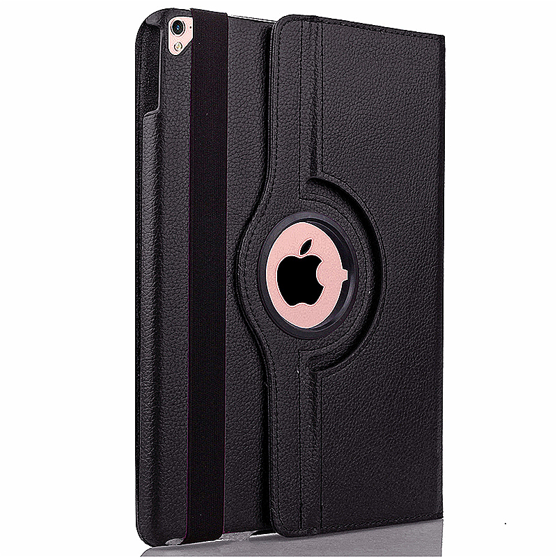 360 degree Rotating PU Leather Flip Stand Case Cover Skin for iPad Pro 9.7 - Black