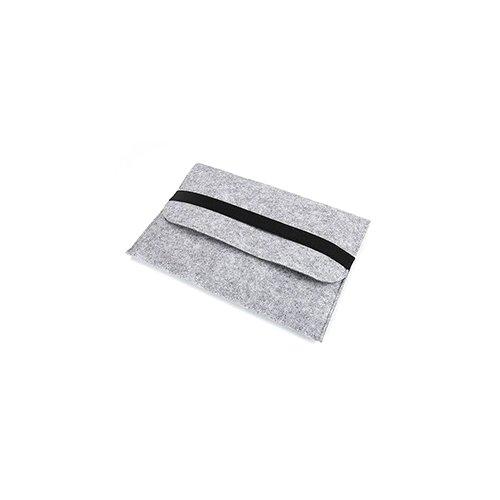 13 Inch Fashion Horizontal Open Felt Sleeve Laptop Case Cover Bag for MacBook - Grey