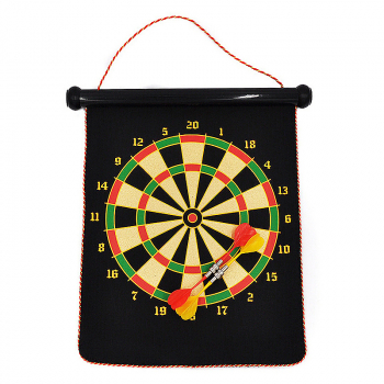 Roll-Up Magnetic Dart Board with 4 Darts Set Home Travel Games