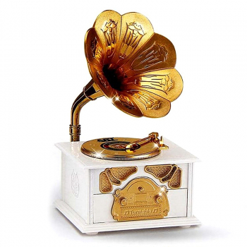 Classical Trumpet Horn Turntable Gramophone Music Box