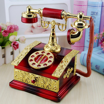 Vintage Classical Telephone Call Set Music Box Toy Gift