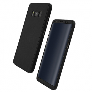 Samsung Full Coverage Hybid Hard Protective Phone Case for Galaxy S8 - Black