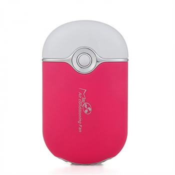 Mini Portable Hand Held Fan Desk Outdoor Air Cooler Cooling Fan - Rose Red