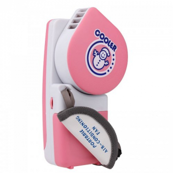 Mini USB Cooling Air Conditioning Fan Portable Handly Cooler - Pink